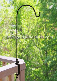 This heavy duty hanger enables you to hang bird feederhousesbaths