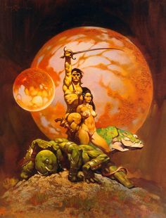 Frank Frazetta A Princess of Mars painting for sale, this painting is available as handmade reproduction. Shop for Frank Frazetta A Princess of Mars painting and frame at a discount of off. Sword And Sorcery, Fantasy Artist, Art, Comic Book Artists, Cover Art, Artist, Comic Art, Frank Frazetta, Painting