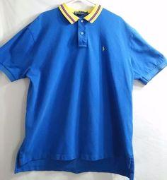 Polo Ralph Lauren Men's Polo Shirt Size XXL Vintage Vibrant Colors  G16 #PoloRalphLauren #PoloRugby