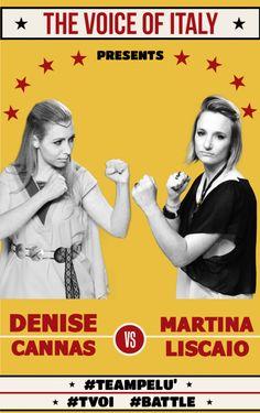 #Battle 2 - The Voice of Italy 2015 - #tvoi #DeniseCannas vs #MartinaLiscaio #TeamPelù