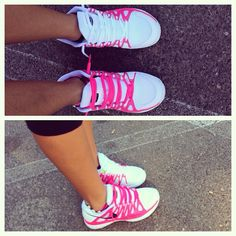Pink and White Nikes pink nike free run sneakers are so cheap for womens all under $50 #cheap #nike #free