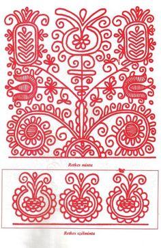 Magyar motívumok gyűjteménye - retkes minta, retkes szélminta