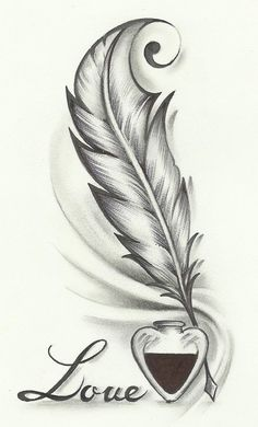Feather drawing, feather tattoo design и tattoo drawings. Feather Drawing, Feather Tattoo Design, Feather Tattoos, Body Art Tattoos, Feather Sketch, Tattoo Art, Butterfly Drawing Outline, Tattoo Drawings Tumblr, Quill Pen Tattoo
