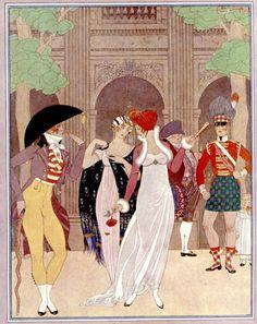 иллюстрации Жоржа Барбье