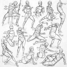 Anatomy sketches by #JamesNgArt #Sketches #Anatomy #Sketch
