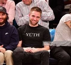 Sweet, gorgeous Rob at the Knicks game - 11/29/17