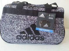 NWT ADIDAS Diablo Small II Duffel Bag Oblivion White Black Sports Gym Carry On #adidas #adidas #Gymbag