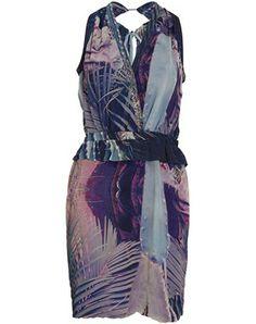 Catcus printed ruffle dress
