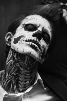 halloween makeup skull man - Buscar con Google