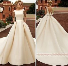 ress 👗 Yay or Nay? ✨ Tag besties and comment 👭 Shopping link in bio ress 👗 Jawohl oder Jawohl? ✨ Tag Besties und Kommentar 👭 Shopping-Link in Bio ❤ … Open Back Wedding Dress, Modest Wedding Dresses, Elegant Wedding Dress, Bridal Dresses, Wedding Gowns, Bridesmaid Dresses, Wedding Dress Bow, Dresses Dresses, Wedding Dress Pockets