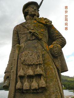 Bonnie Prince Charlie statue at Glenfinnan, Scotland
