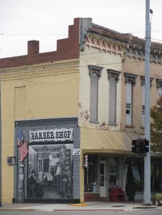 Barber Quincy : Barber Shop mural in Quincy, Michigan