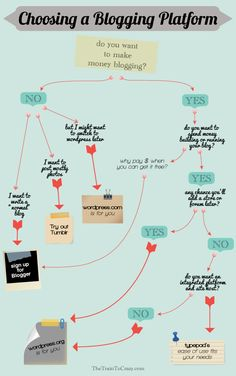 Choosing a blogging platform #infographic
