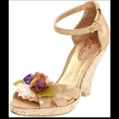 b381ef1da36 Poetic licence gold wedding shoes Fun and whimsical espadrilles by poetic  licence.