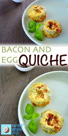 Bacon and Egg Mini Crustless Quiche via @fatforweightlos