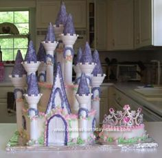 she loves castles. and purple. and eating big slices of cake! now to get someone who will agree to do it gf ;)