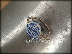 Navel Belly Ring Hoop Ceramic Lentil Painted by WireWrappedDesign