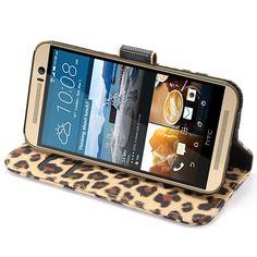 HTC One M9 Pung Taske - Leopard - Brun