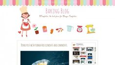 Blogger Templates, Baking, Free, Bakken, Backen, Sweets, Pastries, Roast
