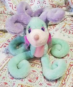 RARE VINTAGE 1987 HOOKS Mattel DEER ME Reindeer Plush Stuffed Toy Multicolor