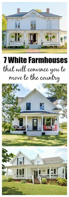White Farmhouses That Will Convince You To Pack Up And Move - Is There Anything Prettier Than A White Farmhouse Not In Our Book Heres Why These Effortlessly Picturesque Homes All With Plus Acres Lead The Field White Farmhouses That Will Convi White Farmhouse, Farmhouse Plans, Farmhouse Design, Farmhouse Style, Farmhouse Front, Farmhouse Decor, Cottage Farmhouse, Farmhouse Homes, Country Style