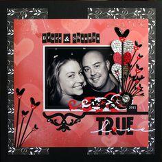 Tableau scrapbooking pour photo couple amoureux ! » tableau, déco, photo