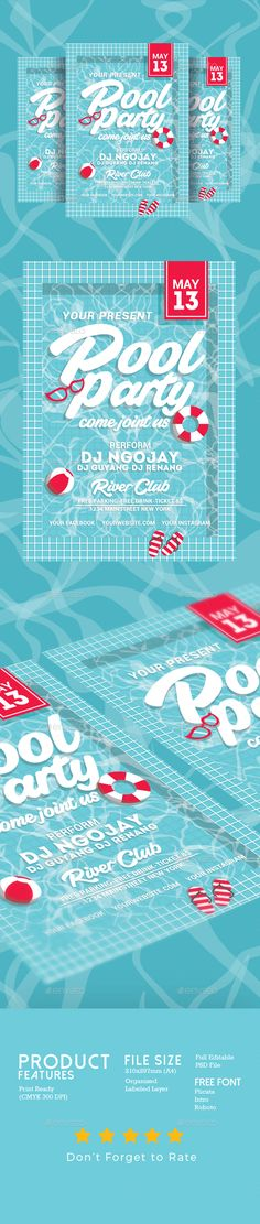 Summer Pool Party Flyer  Summer Pool Party Flyer And Flyer Template