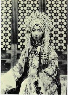 Mei Lanfang (1894-1961), male actor in the stage dress of a young woman - the only role he played in the Beijing Opera (also known as the Peking Opera or Jingju Opera).