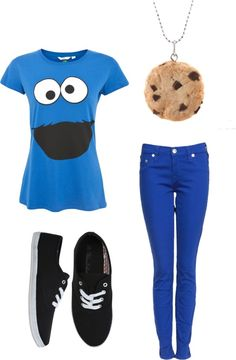 """I heart Cookie Monster"" by lillybear27 on Polyvore"