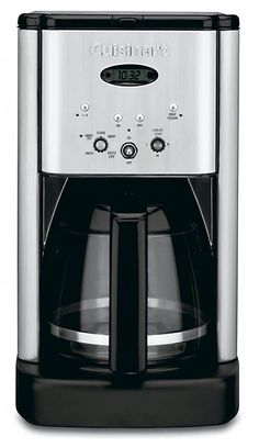 Cuisinart Brew Central Programmable Coffee Maker - Enjoy starting your day with a perfect cup of coffee. This sleek, programmable coffeemaker contains a built-in charcoal water filter, made to deliver the finest brew possible! Great Coffee, Hot Coffee, Coffee Drinks, Coffee Cups, Drip Coffee, Coffee Beans, Coffee Shop, Dual Coffee Maker, Thermal Coffee Maker