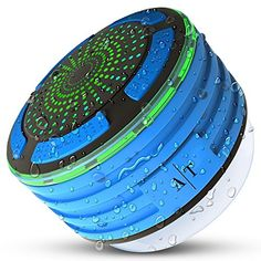 Bluetooth Speaker Auto Tech Portable Wireless Waterproof Bluetooth Shower Speaker with FM Shower Radio and LED Mood lights Super Bass and HD Sound for Bathroom Pool Beach Kitchen & Outdoor Cool Tech Gadgets, Geek Gadgets, Tween Girl Gifts, Gifts For Teens, Waterproof Bluetooth Speaker, Bluetooth Speakers, Shower Speaker, Bass, Mood