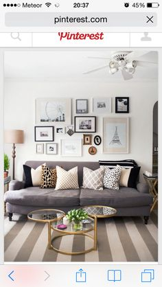 Leopard print, polka-dot... Lots of photo frames #Dream sofa ❤️