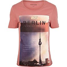 Pink Berlin city print t-shirt