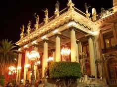 Teatro Juarez in Guanajuato, MX. Probably the most beautiful city I've visited yet.