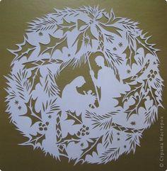 Картина панно рисунок Рождество Вырезание Рождество_Lois Cordelia Бумага фото 7