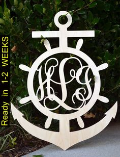 35 Nautical Decor Anchor Monogram