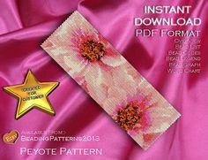 Peyote Pattern Bracelet Cuff Beading Miyuki Delica Size 11 Beads - PDF Download - Pink Passion