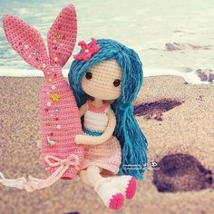 Mermaid Ava ~ enjoying the breeze with love ✨✨ Pattern by Cute Crochet, Crochet Crafts, Yarn Crafts, Crochet Projects, Crochet Patterns Amigurumi, Amigurumi Doll, Crochet Dolls, Knitting Patterns, Crochet Mermaid