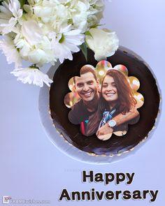 25th Wedding Anniversary Wishes, Happy Marriage Anniversary Cake, Happy Anniversary Photos, Anniversary Cake With Photo, Birthday Cake With Photo, Anniversary Verses, Anniversary Crafts, Anniversary Scrapbook, Romantic Anniversary