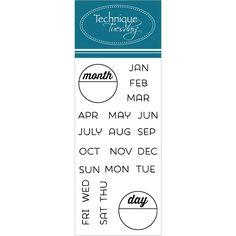 Technique Tuesday Clear Stamp Calendar Months & Days