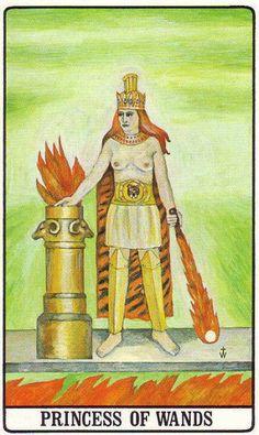 Princesa de Varas, Tarot de la Golden Dawn, de Robert Wang.