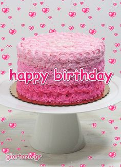 giortazo.gr: Happy Birthday Animated Images #happybirthdayimages Happy Heavenly Birthday, Happy Birthday Wishes Cake, Happy Birthday Cake Images, Happy Birthday Video, Happy Birthday Beautiful, Birthday Wishes For Myself, Happy Birthday Sister, Happy Birthday Messages, Happy Birthday Quotes