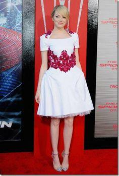 Emma Stone at Spiderman Los Angeles Premiere – Dress Chanel Resort 2013
