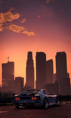 Los Santos Skyline [x-post /r/outrun] Jdm Wallpaper, Scenery Wallpaper, Gaming Wallpapers, Car Wallpapers, Foto Gta 5, Rockstar Games Gta, Gta Pc, Grand Theft Auto Series, Street Racing Cars