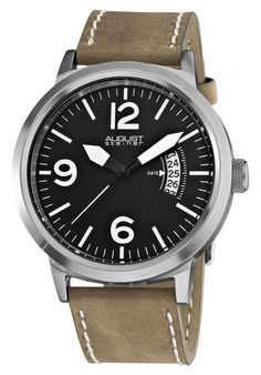 Price:$60.00 #watches August Steiner AS8012WT, Bold contemporary men's watch is sure to impress. August Steiner timepiece showcases stainless steel case. Men's watch makes for great addition to your wardrobe