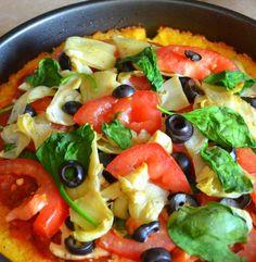 Gluten Free Italian Polenta Pizza #glutenfree