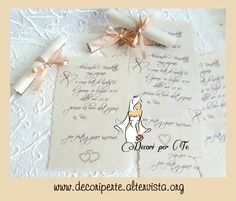 COUNTRY CHIC Pergamene Inviti COUNTRY CHIC Wedding Invitations