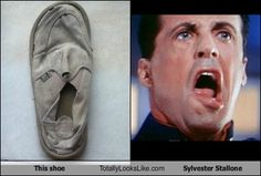 This Shoe Totally Looks Like Sylvester Stallone