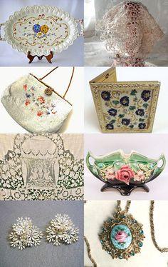 #vogueteam Vintage Lace and Flowers