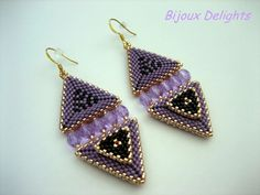Purple Contemporary Earrings